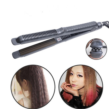 Salon Styling Tools Professional Hair Curling Iron Corrugated Curler Small Wave Curl Crimping Iron Corrugation Hair Flat Iron