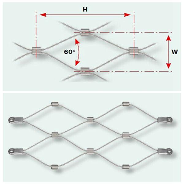 Architectural mesh revestimento cercas de malha de arame de arquitectura