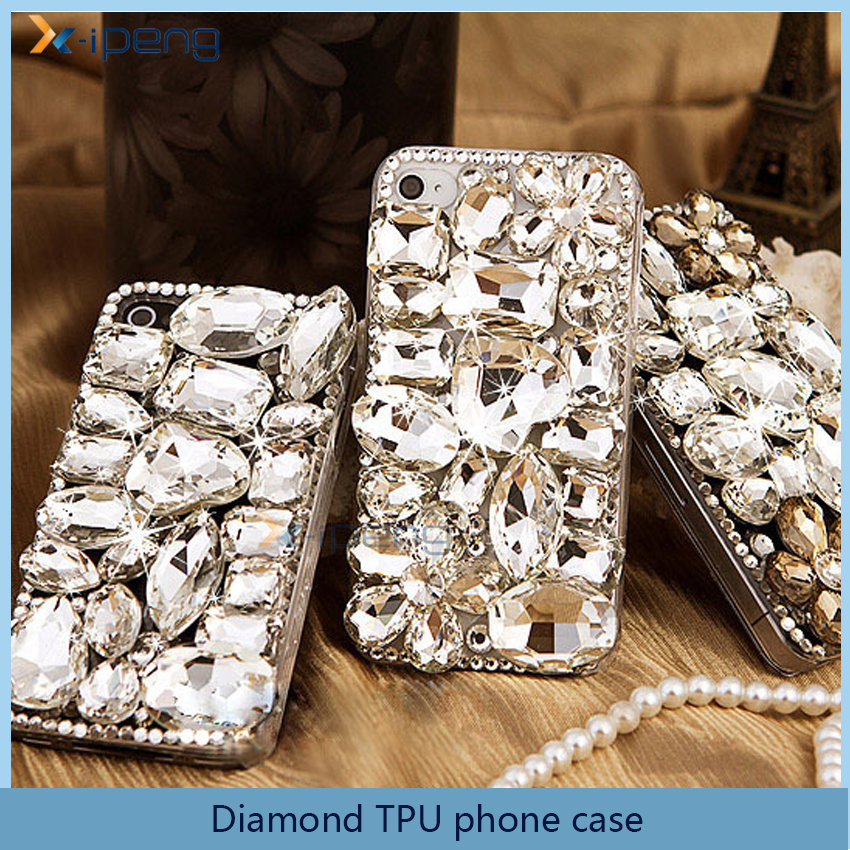 Luxury Hand-made Diamond Soft TPU for vivo y51 transparent mobile phone case back cover