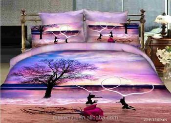 2015 New Design For Landscape 3d Bed Sheets Set Romantic Wedding Bedding Set