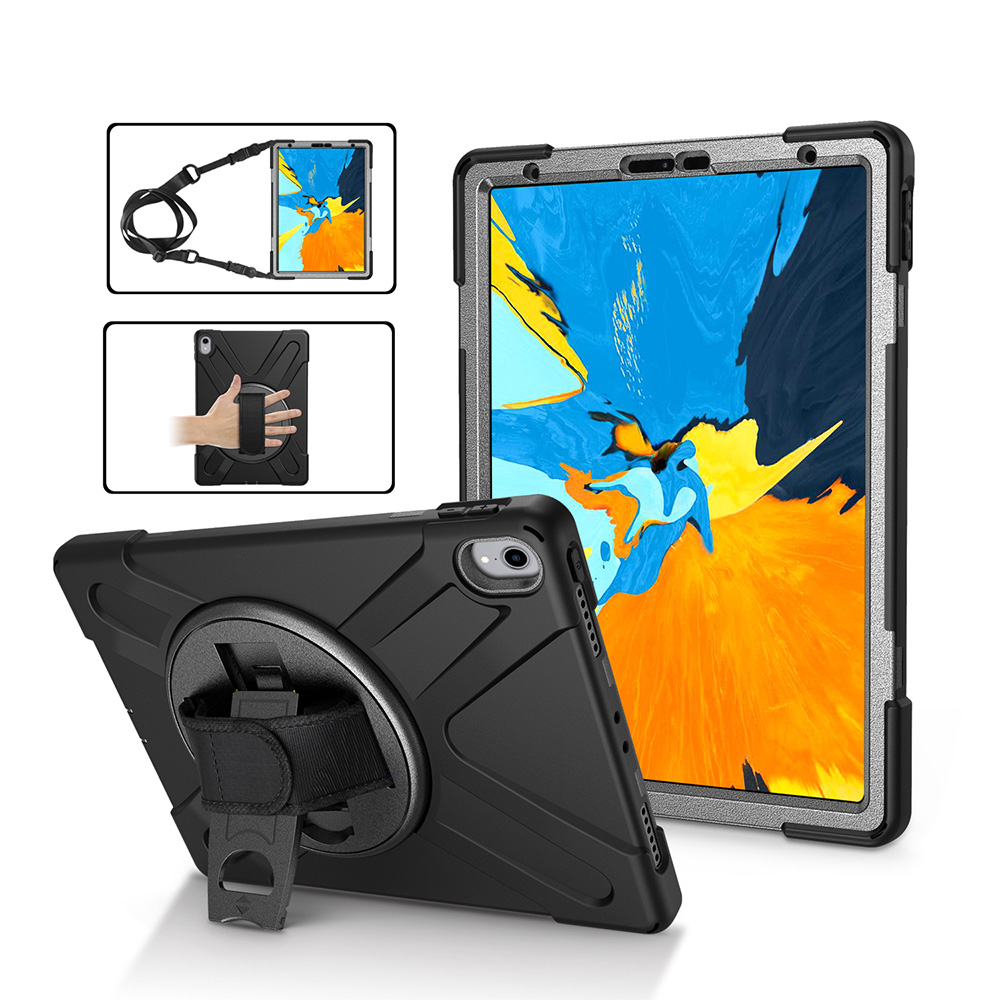 Shockproof Heavy Duty Rotating Kids Tablet Case Cover for <strong>iPad</strong> Pro 11&quot; with Hand Strap Shoulder Belt