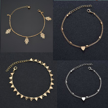 1808016014 indian <span class=keywords><strong>금</strong></span> anklets 스타 (energy star) brr coin triangle hamsa heart anklets 발 보석 24 천개 <span class=keywords><strong>금</strong></span> crystal 숙 녀 anklets women