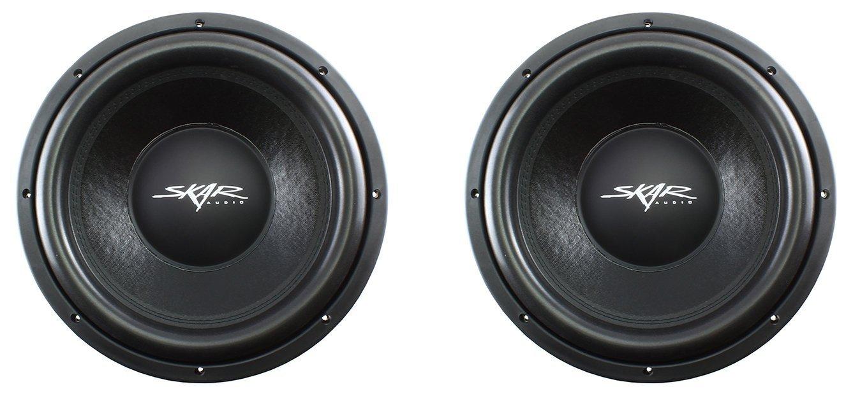 "NEW SKAR AUDIO VD-10 D4 10/"" 500W RMS DUAL 4 SHALLOW MOUNT SUBWOOFERS PAIR 2"