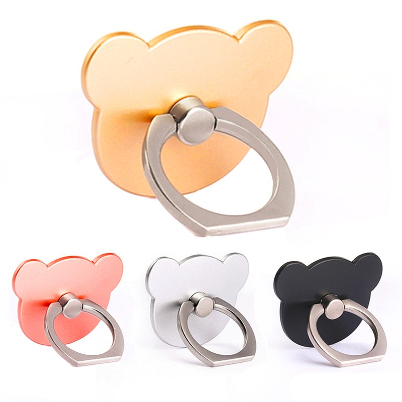 ZH-08 Cartoon winnie 360 Degree Mobile Finger Ring Holder Mobile Phone Stand For iphone samsung lg htc Universal Ring hook brack
