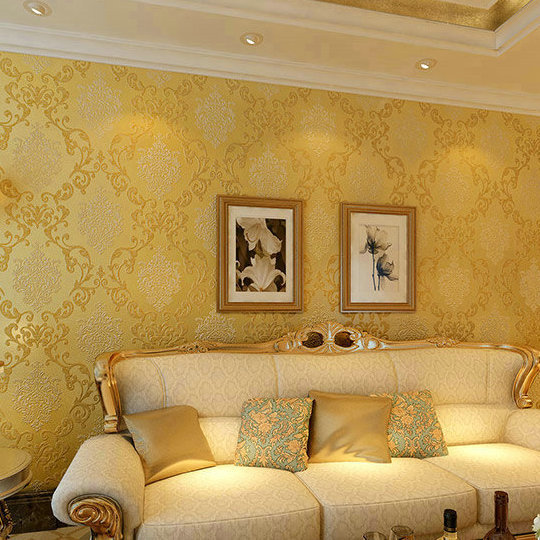 Damask Floral Wall Paper 3D For Living Room Bedroom Home
