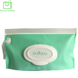 Best Selling Tissue Paper PVC Packaging Wet Wipes Bag