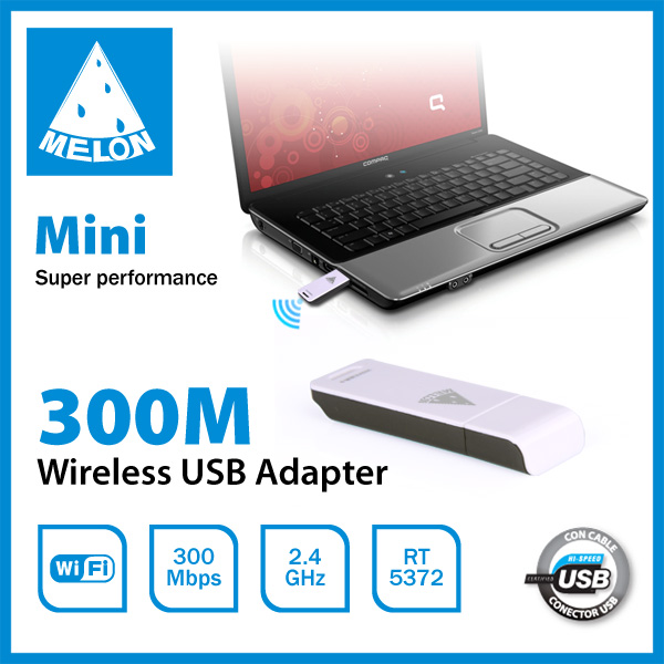 Desktop and Laptop Application Internal Kind Wireless Type 300Mbps wifi network card (Melon M30)