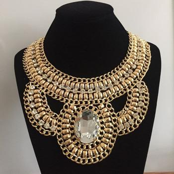 c0aeb4cb4823 Fancylove de joyería de las mujeres de oro joyas de declaración de cristal  de piedra grande