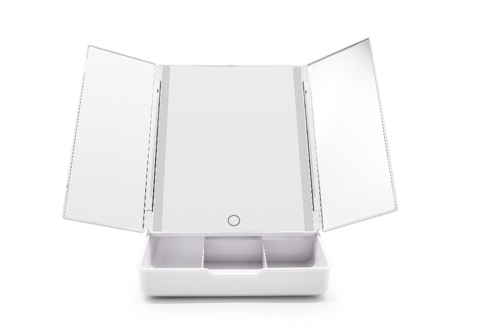 Travel Cosmetic Vanity Mirror Tabletop Mirror Box Make Up