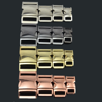 Manufacture wholesale Flat paracord Colorful Side Release Metal Buckles for paracord bracelet