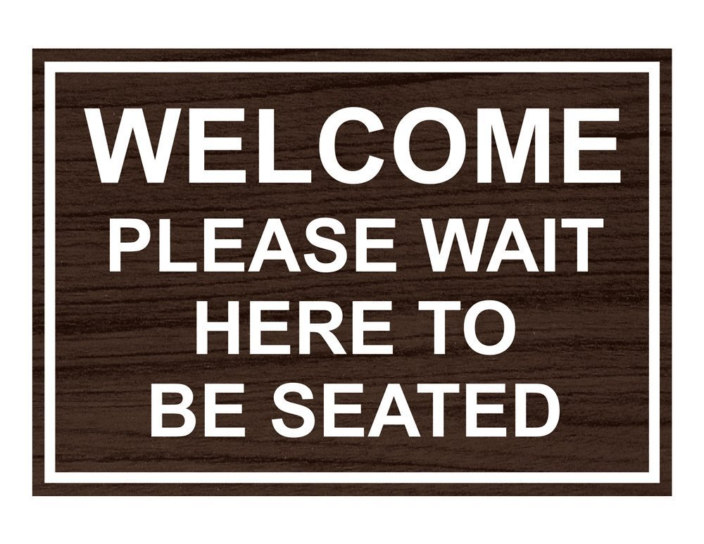 Buy Compliancesigns Engraved Plastic Welcome Please Wait Here To Be