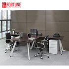 Modern design competitive price t shaped 2 person office desk to texas