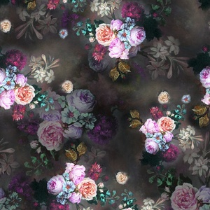 Fancy design yanhui textile woven twill small rose flower digital print cotton fabric for clothing