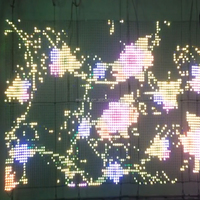 led flex roll up led display curtain/led mesh/net led screen/led gird