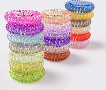 factory girls cheap hair accessories different colors elastic telephone  wire plastic hair band fa84b7ce2c1