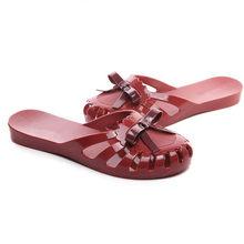 ASILETO женские летние туфли без задника, сабо на плоской подошве, повседневные сандалии, прозрачная обувь, шлепанцы с бантиком, пляжные шлепан...(Китай)
