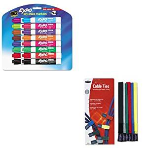 KITBLKF8B024SAN81045 - Value Kit - Belkin Multicolored Cable Ties (BLKF8B024) and Expo Low Odor Dry Erase Markers (SAN81045)