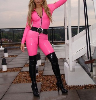 Sexy pink latex