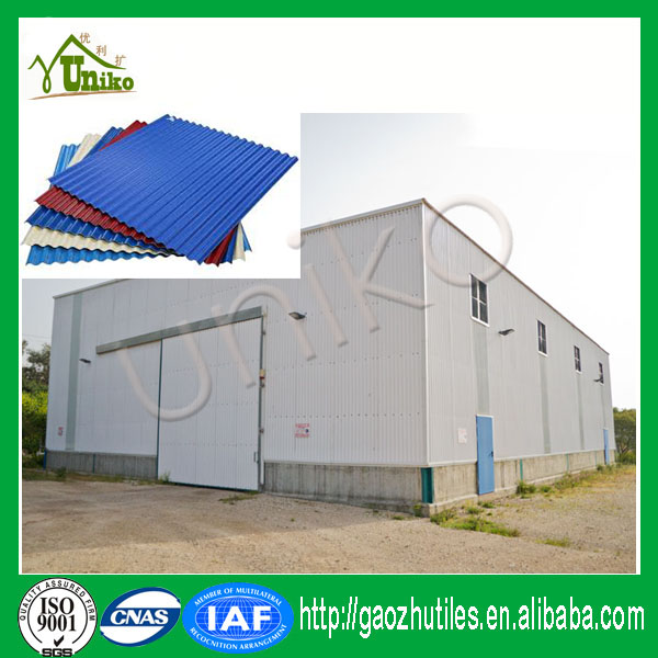 Corrugated tile roofing for portable house factory warehouse curved roof tile wall panel
