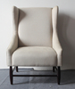 Living room furniture high back chairs white throne chair,winged back armchair