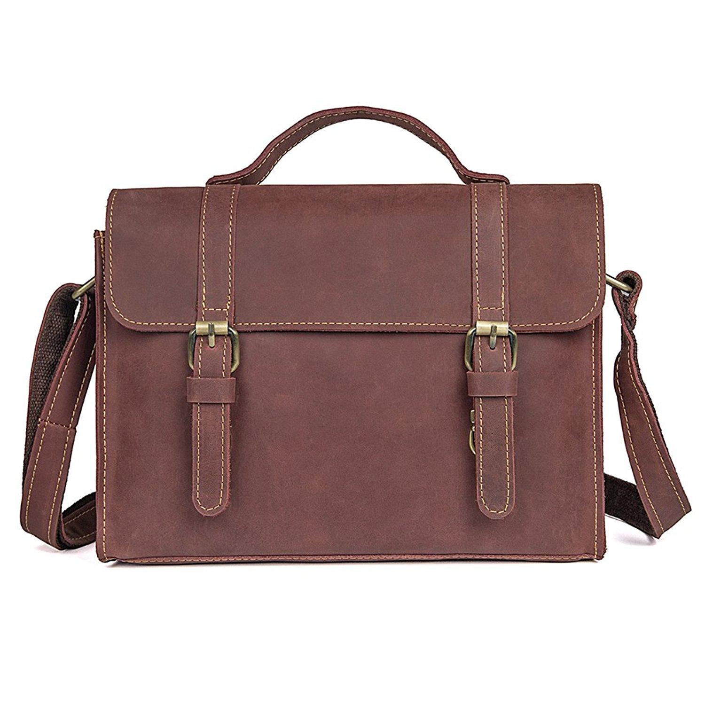 f96ccc13b7 Get Quotations · Genda 2Archer Men s Genuine Leather Briefcase Shoulder Messenger  Tote Bag