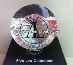 80MM Engraved Crystal Glass Diamond Paperweight for Gifts