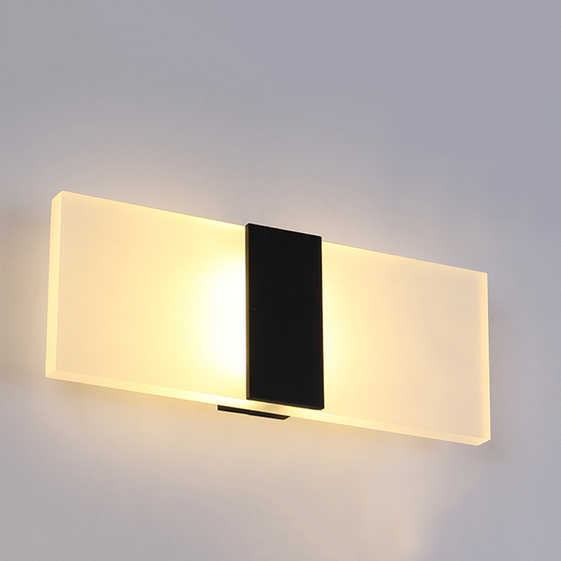 Acrílico Llevó Signo Pared Luz Color Blanco Noche Lámpara Para Dormitorio
