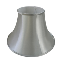 wholesale mass produce gray silk waisted round lamp shade good for shell table lamp