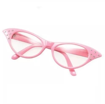 876d4e9e59ff 50s pink ladies glasses with tinted lens fancy dress grease shades  sunglasses