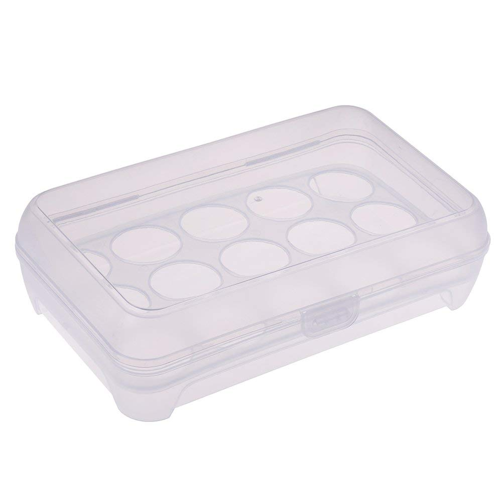 Eggs Storage Container Plastic Egg Tray for Refrigerator Egg Carrier/Box/Dispenser/Case/Crate with Shatter-proof lid £¨White£