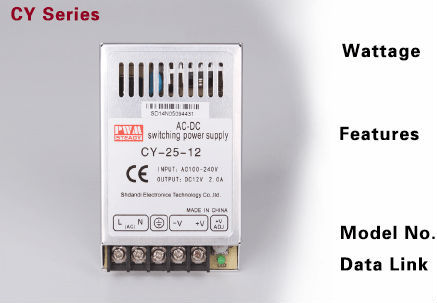 CY-25-12 ultra thin power supply 25w 220v ac to 12v dc 2a switching power supply