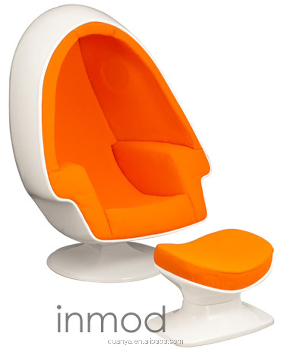 New Design Mordern Egg Series Fibergl Pod Chair For Living Room Chaise Lounge