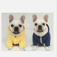 Plain Dog Hoodie Spring Autumn Winter Pet Clothes With Zipper Puppy Dog Coat Jacket Outfit Dog Apparel