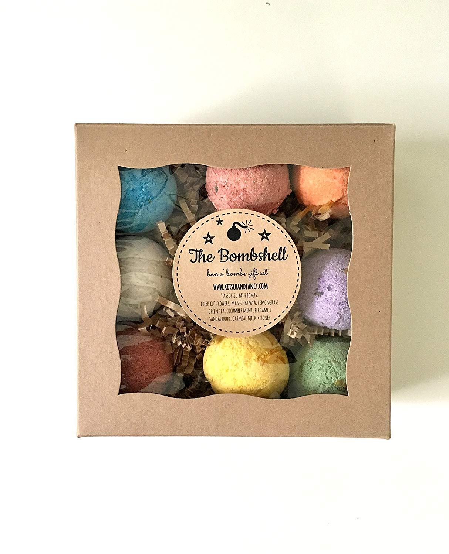 Bath Bomb Gift Box: assortment of 9 bath bombs
