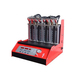 8 Cylinders of Automatic Fuel Gasoline Injector Tester & Cleaner, all cars injector diagnostic machine with red trolley