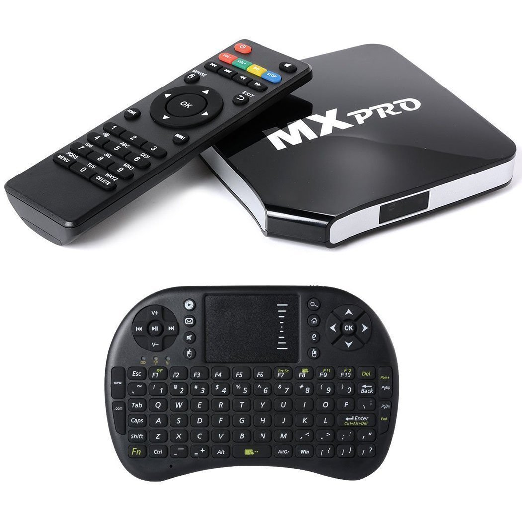 [Free Wireless Mini keyboard I8] MX Pro Quad Core KODI(XBMC)Fully Loaded Smart Android TV Box 1080p Hdmi 4k Free Live Sports Movies