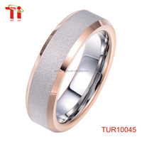 tungsten jewelry Wedding Band Ring plating rose gold ring Fashion facility design ring