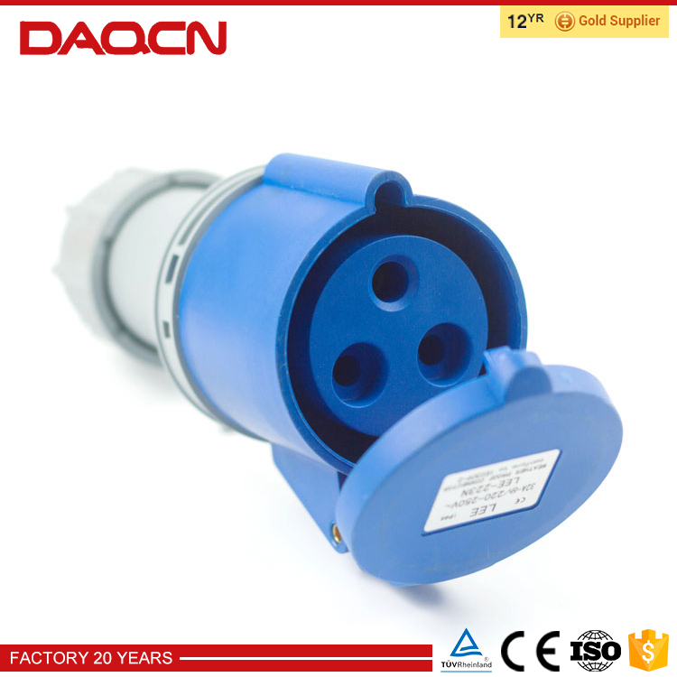 DAQCN Excellent Quality Ce Approval 16 Amps Female Industrial Socket