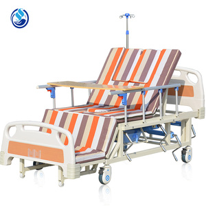 Equipped hospital bed with toilets for the disabled,hospital sanitary equipment medical metal patient bed