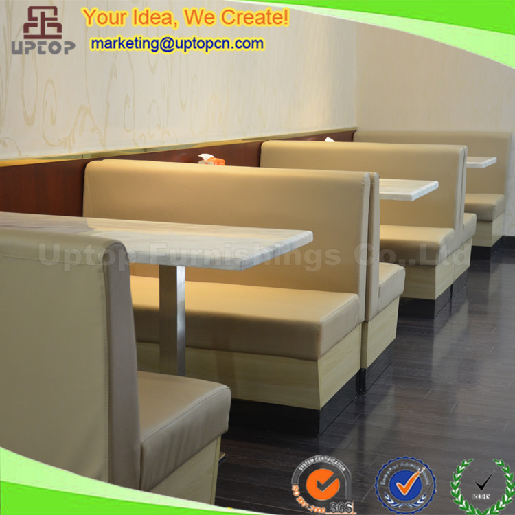 Sp Cs318 Beige Leather Banquette Restaurant Booth Furniture Seating