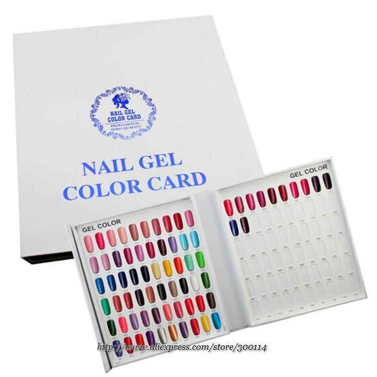 Wholesale 120 Colors Gel Card Nail Salon Color Display