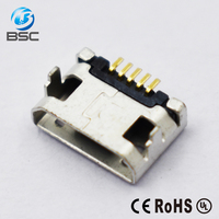 Cell Phone Type B Micro USB Female Jack Port Socket,micro usb 2.0 b female charging port connector