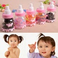 Children Baby Girl Milk Bottle Rainbow Color Elastic Hair Rubber Band Rope Ponytail Accessories Free Shipping