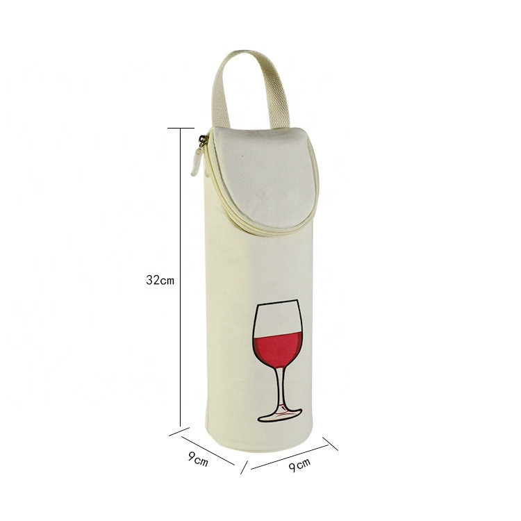 Custom LOGO factory single bottle insulation neoprene wine bag red wine ice pack wine tote bag