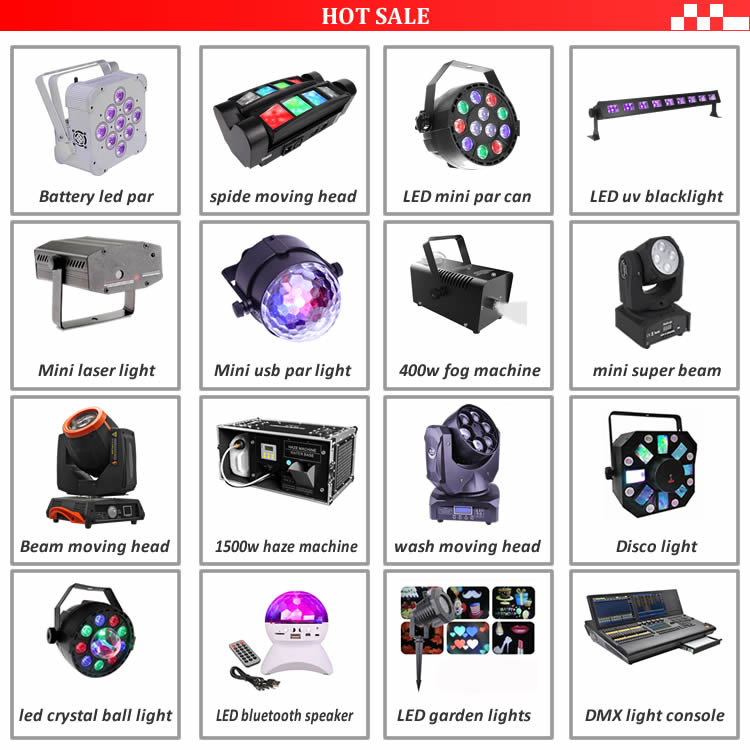 Professional 54Pcsx1W DMX512 LED Plastic Par Light for Flat Stage DJ Lights Home Party Disco