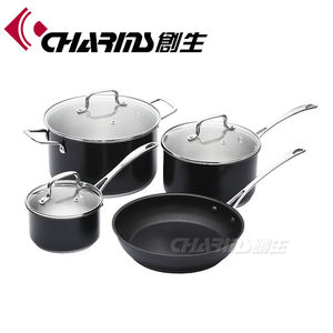 Large Sizes Food Pasta Cookware Enamel Stock Casserole Kitchenware Stainless Steel Cooking Hot Pot And Pan Set For Kitchen