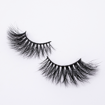 25mm Eyelashes Private Label Length 3D Real Mink Hair Lashes Packaging