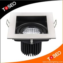 Square 10W led spotlight dimmable downlight movable