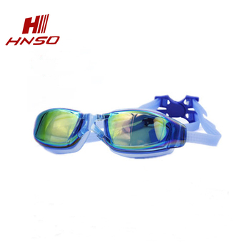 dac90d4ab744f4 High quality adults mirror coating myopia swimming goggles with degree