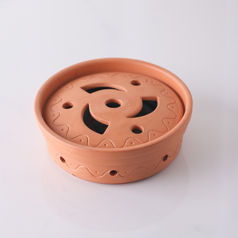 Clay Terracotta Mosquito Coil Stand